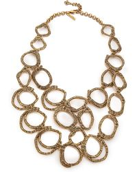 Oscar de la Renta - Circle Necklace - Russian Gold - Lyst