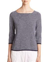 Eileen Fisher Linen & Cotton Striped Sweater - Lyst