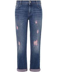 Stella McCartney Distressed Boyfriend Jeans - Lyst