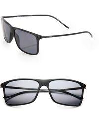 Giorgio Armani Acetate Navigator Sunglasses - Lyst