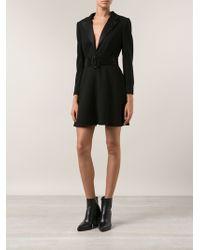 Saint Laurent Black Jacket Dress - Lyst