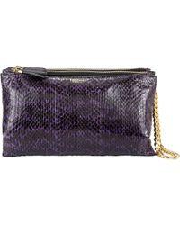 Zagliani Ayers & Leather Clelia Wristlet purple - Lyst