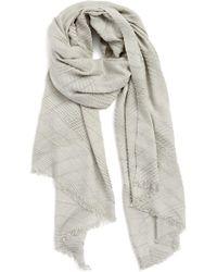 Echo - Pleated Blanket Scarf - Lyst