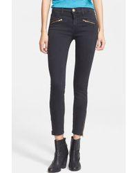 Current/Elliott 'The Soho Zip Stiletto' Skinny Jeans - Lyst