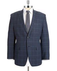 Calvin Klein Plaid Silk And Wool Blazer - Lyst