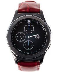 """Samsung - Intense Red """"gear S2"""" Smartwatch - Lyst"""