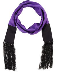 Gucci Purple Oblong Scarf - Lyst