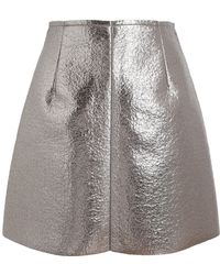 MSGM Metallic Mini Skirt - Lyst