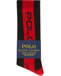 Pink Pony - Classic Stripe Sports Socks 3-pairs - Lyst