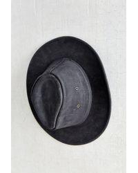 Henschel Leather Mini Cowboy Hat - Black