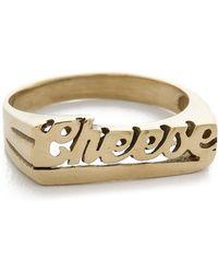 Snash Jewelry Cheese Ring - Gold - Metallic