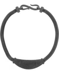 Giles & Brother Gunmetal-Tone And Enamel Necklace - Lyst