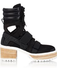 Hood By Air   60mm Suede & Leather Boots   Lyst