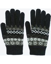 Zara Jacquard Knit Glove - Lyst