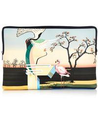 Mary Katrantzou Flamingo-Print Canvas Document Holder multicolor - Lyst