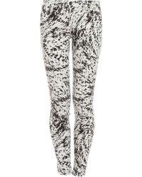 J Brand Mid Rise Printed Skinny Jeans - Lyst