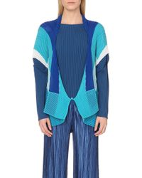 Issey Miyake Colour-Block Pleated Jacket - For Women - Lyst