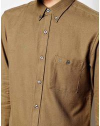 French Connection Plain Flannel Shirt - Lyst