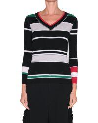 Sonia Rykiel Striped Cashmere Pull - Lyst