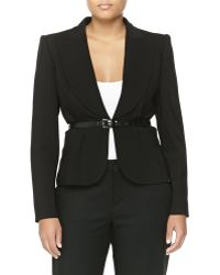 Michael Kors Wool-Blend Short Belted Jacket - Lyst