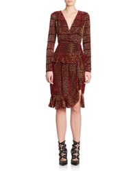 Altuzarra Farley Tibetan Wave Dress brown - Lyst