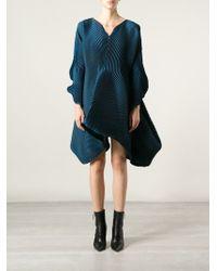 Issey Miyake Asymmetric Volume Dress - Lyst