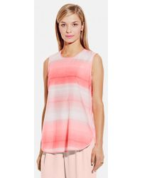 Vince Camuto Women'S Ombre Stripe Shell - Lyst