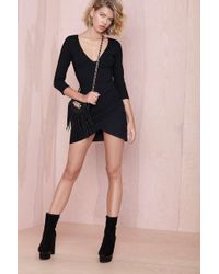 Nasty Gal Deep Down Dress Black - Lyst