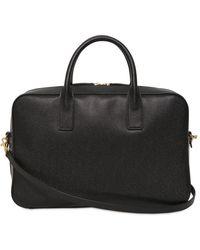 Saint Laurent Medium Palmellato Leather Briefcase Bag - Black