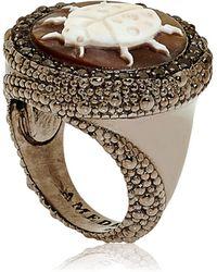 Amedeo Special Edition Caviar Ring - Metallic