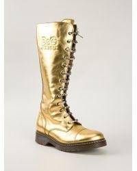 Dolce & Gabbana 'd&g Junior' Boots - Metallic
