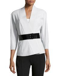 Donna Karan New York Belted Knit Kimono Jacket - Lyst