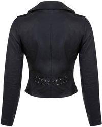Miss Selfridge Biker Jacket - Black