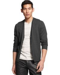 INC International Concepts In Control Cardigan Sweater - Gray