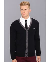 Fred Perry Fine Tipped Cardigan - Lyst