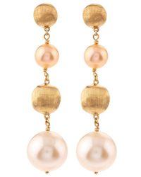 Marco Bicego - Africa Pearl Drop Earrings - Lyst