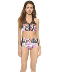 Clover Canyon Floral Garden Scarf Bikini Top - Multi - Lyst