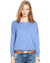 Polo Ralph Lauren Drop-Shoulder Sweater - Lyst