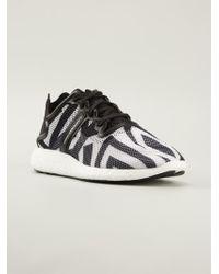 Y-3 Black Mesh Sneakers - Lyst