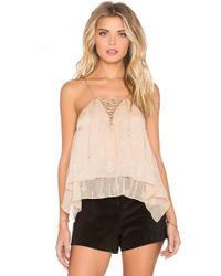 Twelfth Street Cynthia Vincent - Envelope Lace Up Cami - Lyst