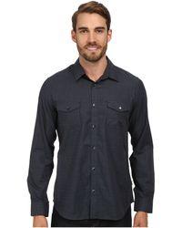 Calvin Klein Herringbone Gingham Woven Shirt - Lyst
