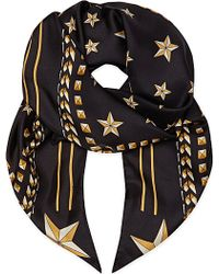 Givenchy Star-Print Silk Scarf - Lyst