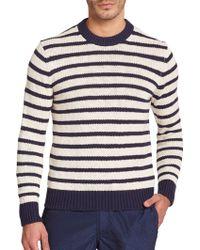 Michael Kors Striped Cotton & Linen Sweater blue - Lyst