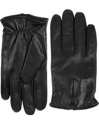 Calvin Klein   Deep V Leather Gloves   Lyst