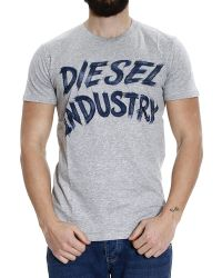 Diesel T-Shirt T-Aetalas Half Sleeve Crew-Neck With Logo - Lyst