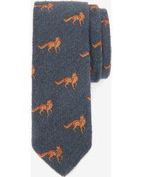 Ted Baker Fox Print Tie - Grey