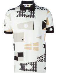 MSGM Printed Polo Shirt - Lyst
