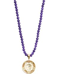 Abellan New York - One Of A Kind Diamond And Amethyst Tassel Pendant Necklace - Lyst
