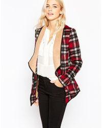 Greylin Plaid Wool-blend Jacket - Red