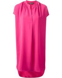 Vince Popover Crepe Dress - Lyst